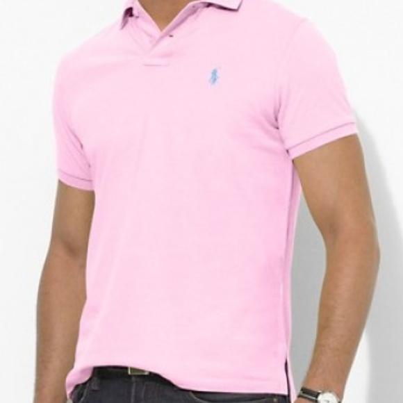 29e14aa4 Pink Polo Ralph Lauren Custom Fit Polo Shirt. M_5aa5dfcf31a37690eba2a0ce